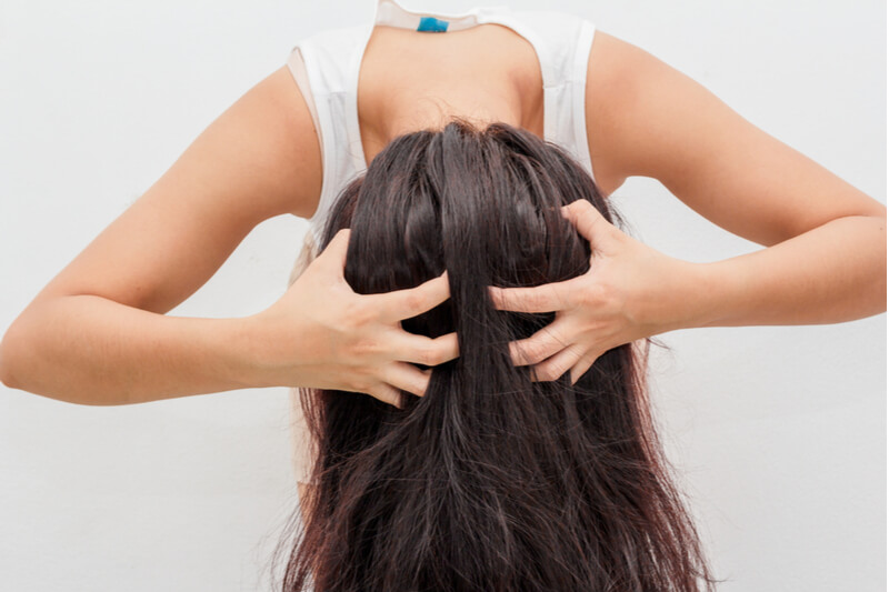how to scrub salt into scalp