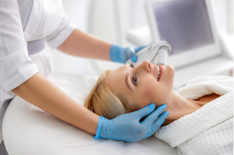 ultrasound facial for women